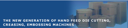 Corrugated packaging machines,Die cutting machines